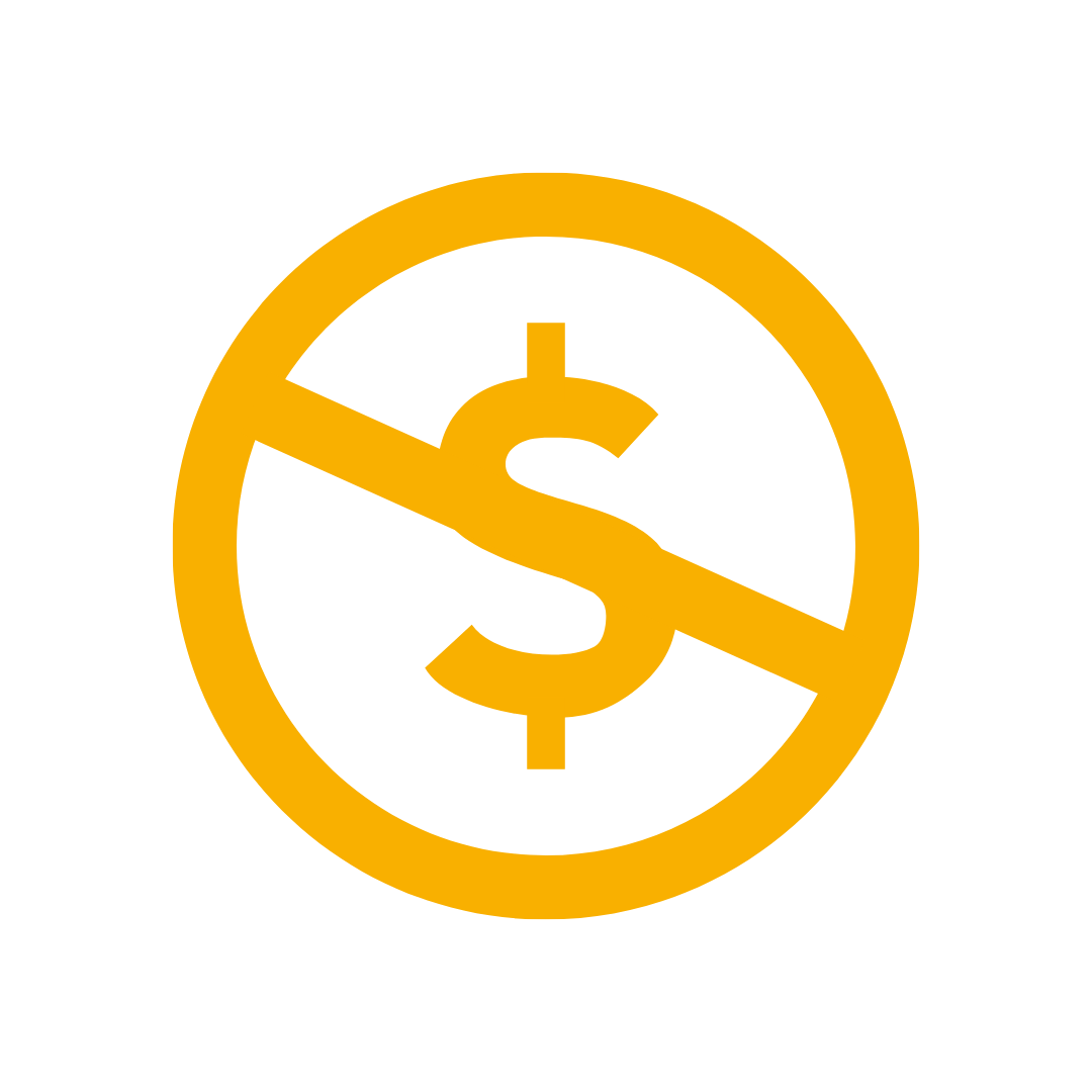 no added fees icon